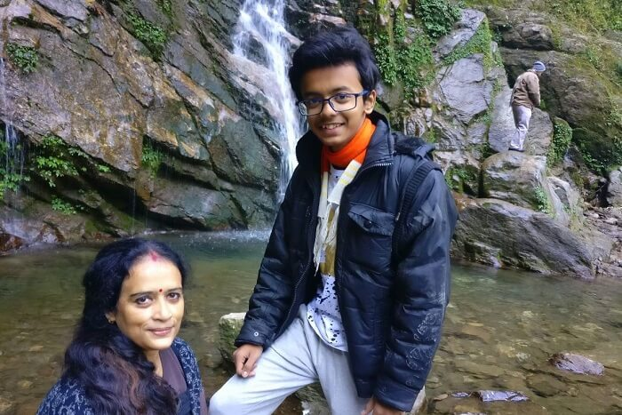 Shantanu northeast trip- near Khangchendzonga waterfall