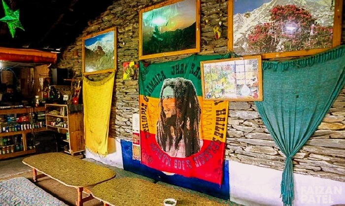 jim Morrison cafe in kasol