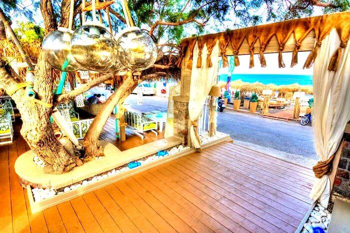 Jojo Beach Bar Santorini Greece