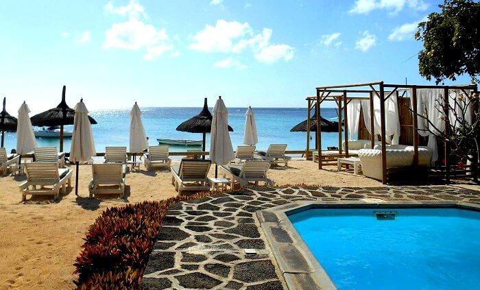 sitting of La Plage Beach Club Mauritius