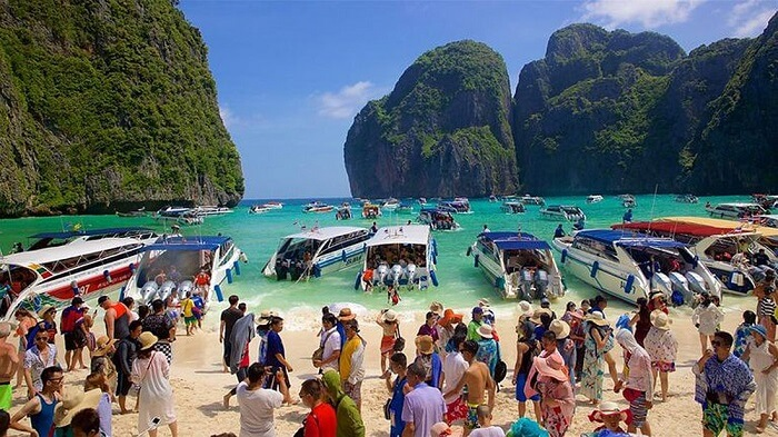 Maya Bay Tourists
