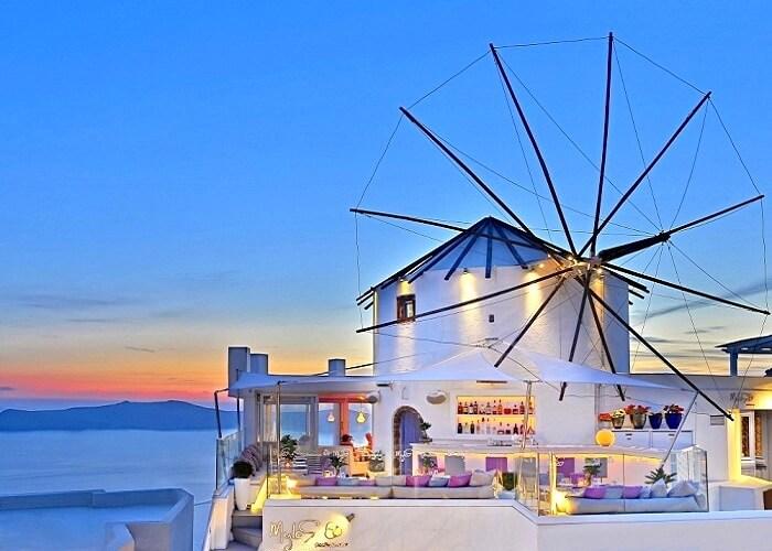 Mylos Bar Restaurant in Santorini Greece