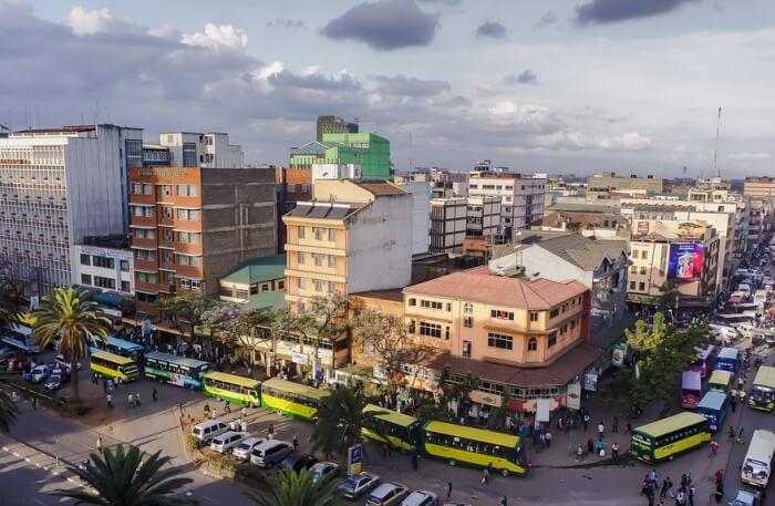 Kenya Street Urban City Crowded Nairobi