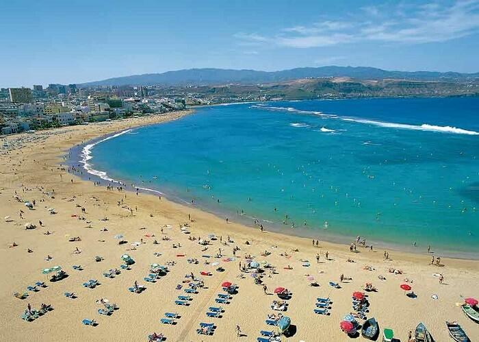 Playa De Las Canteras beach in spain