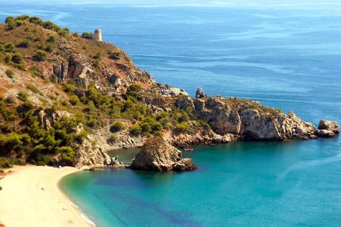 Playa Del Cañuelo beach in Spain