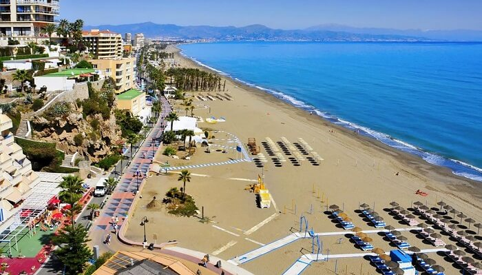 Playa de la Carihuela beach in spain