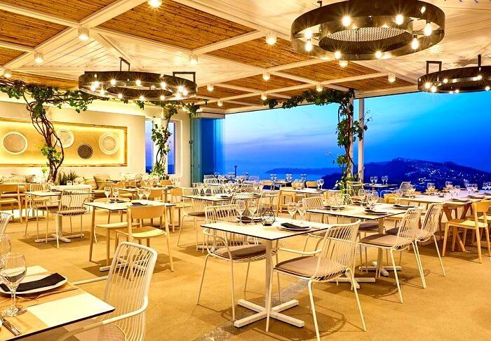 Pyrgos Restaurant Santorini Greece