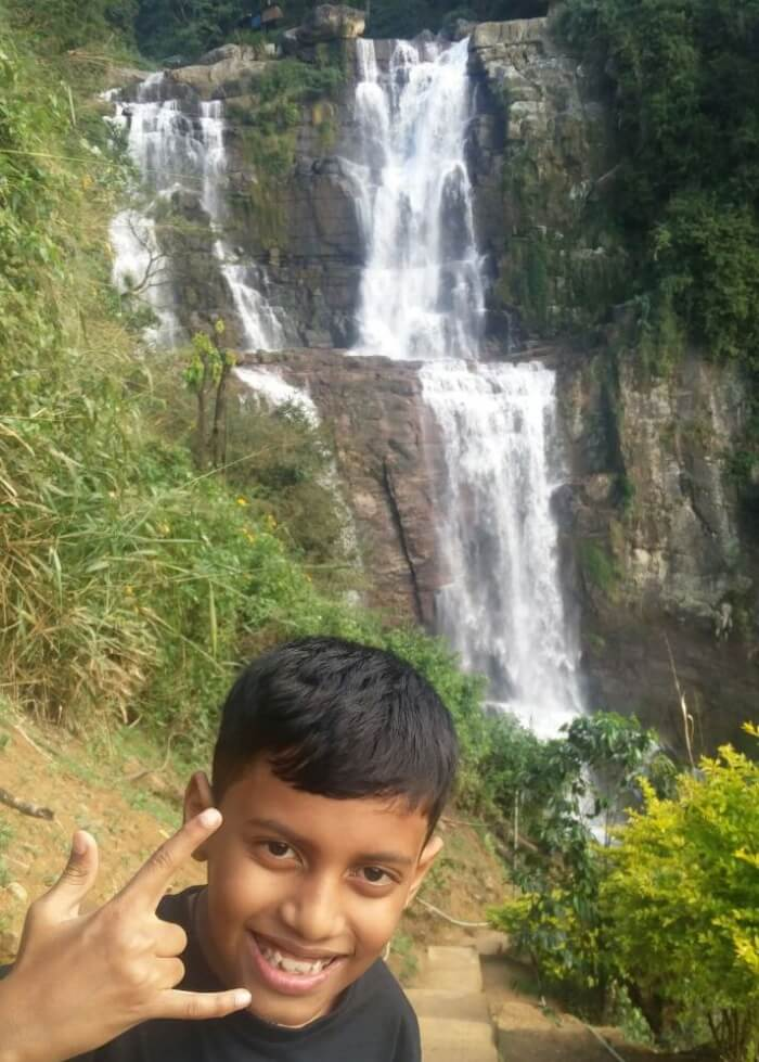 Rachna's kid in Nuwara Eliya