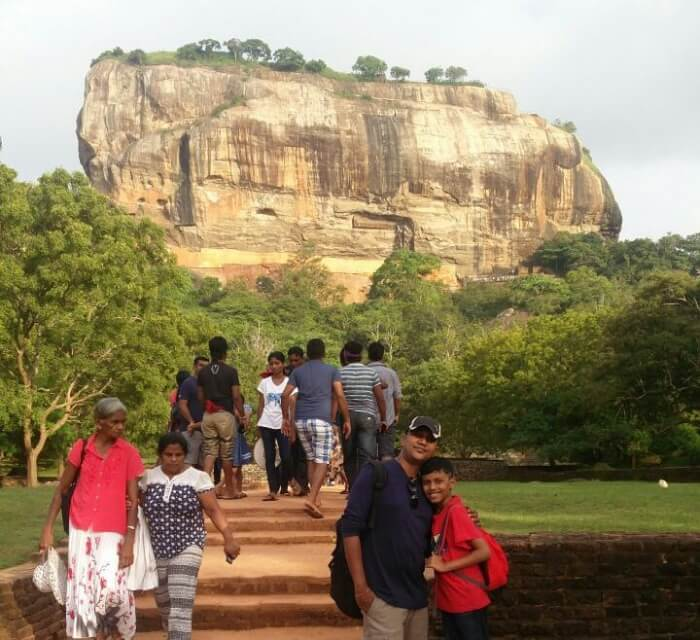 Rachna's family in Sigiriya