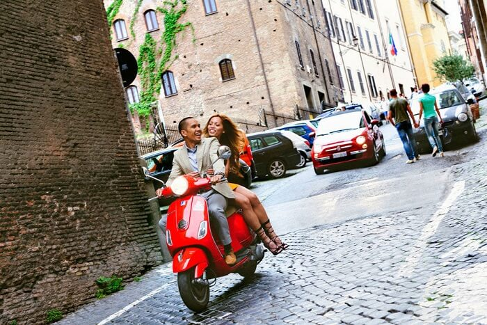Ride a scooter around Sardinia in Italy