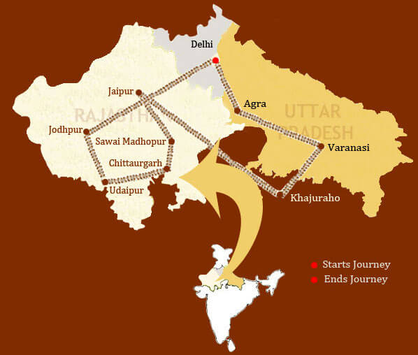 route of Rajasthan on wheels