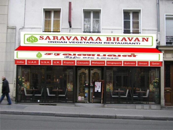 Saravana Bhavan in Paris