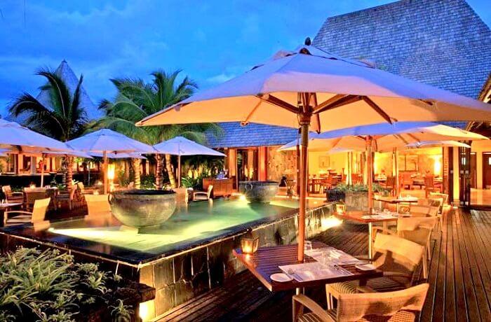 Sitting of Stars Restaurant Mauritius