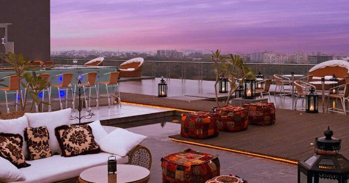 The O Hotel terrace
