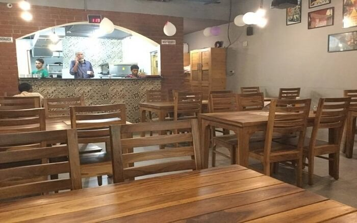 a simple wooden furniture cafe 018