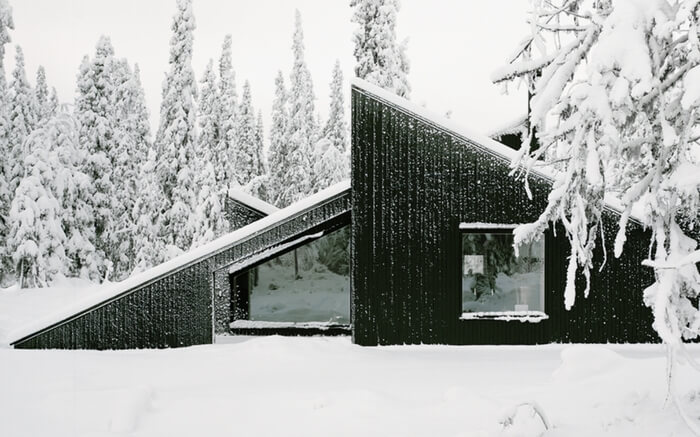 A view of Vindheim Cabin in Norway