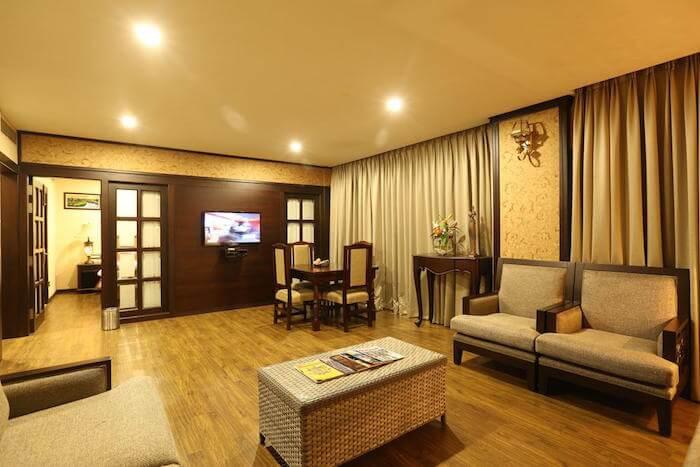 lobby of atithi hotel