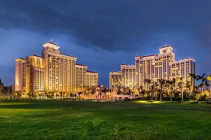 Baha Mar Hotel Bahamas night view