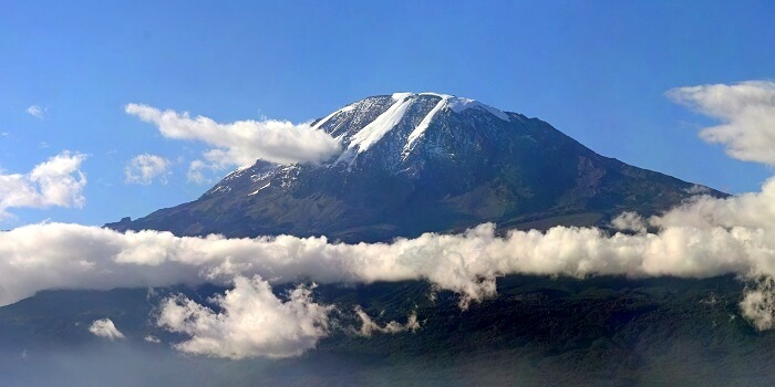 aerial view of mt kilimanjaro