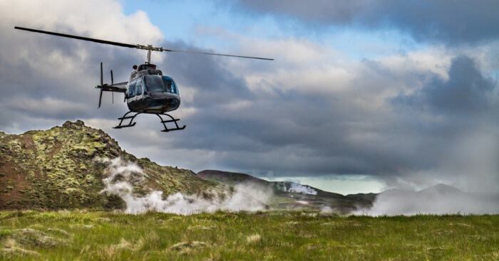 a helicopter tour in iceland