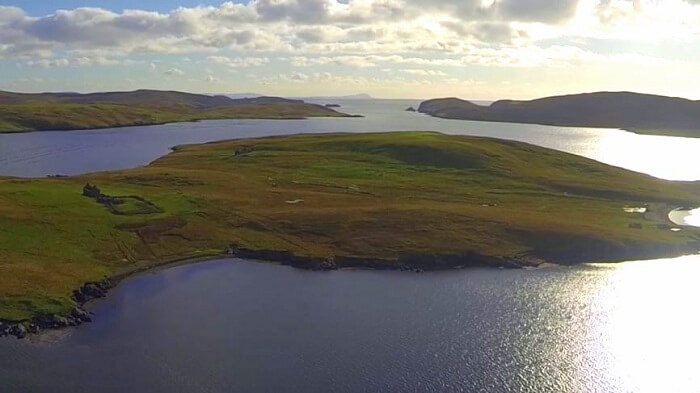 Linga island in scotland