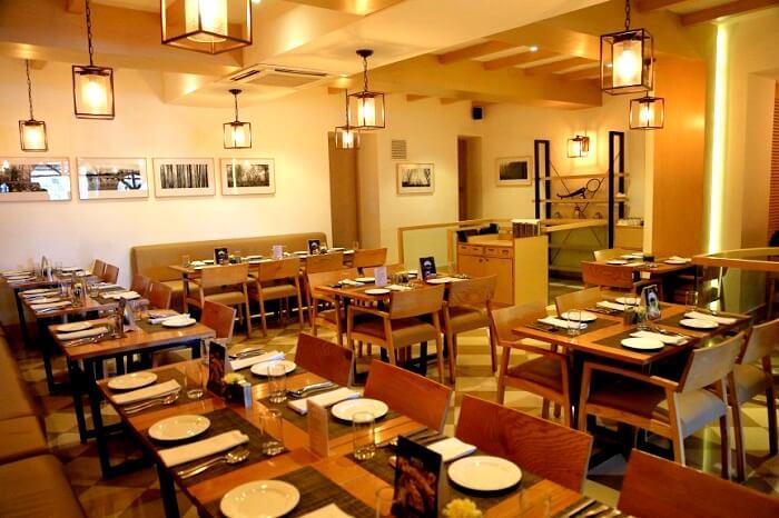 interior of pavilion restaurant dehradun
