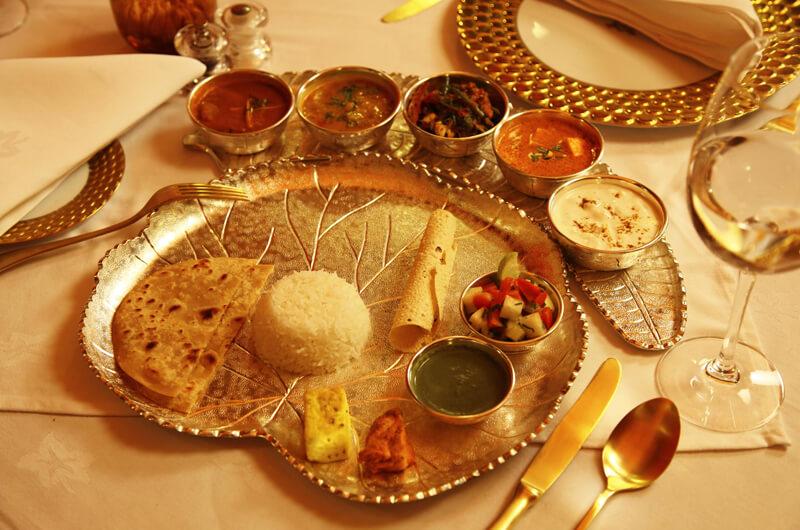 a lavish rajasthani thali