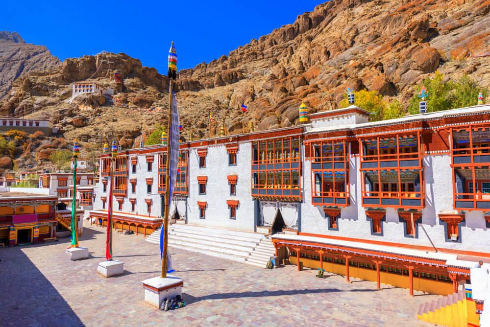 a colorful temple in Ladakh