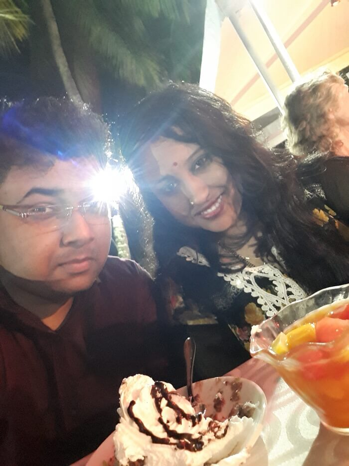 Himanshu honeymoon trip to Mauritius: christmas party