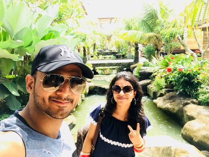 Couple on Bali honeymoon