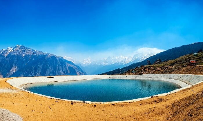 The Artificial Lake in Auli