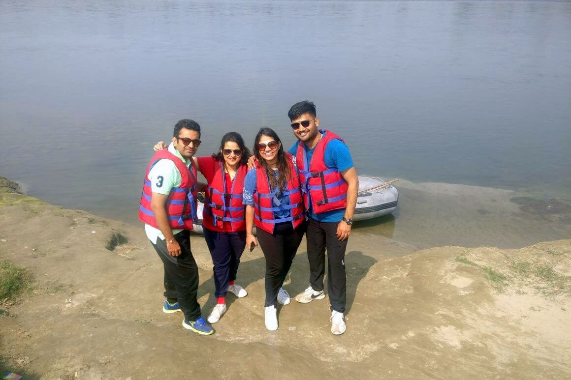 All set for 18kms rafting on jia Bhorali river