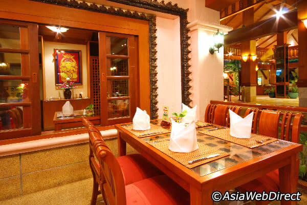 interiors of an indian restaurant
