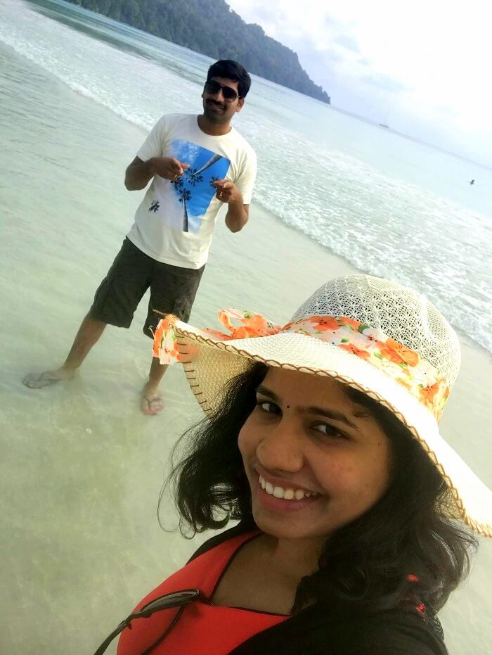Couple at Havelock Island in Andaman