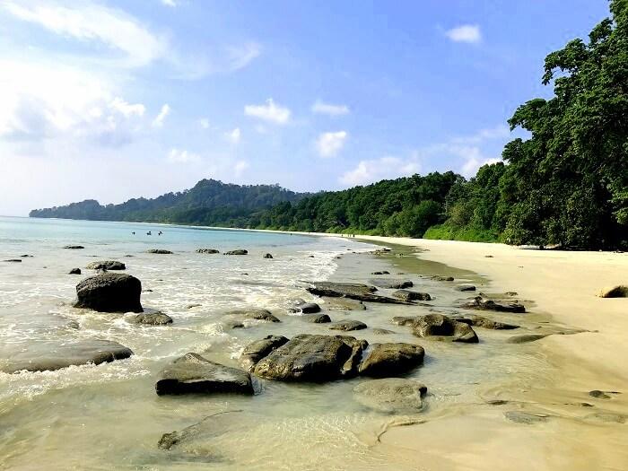 View of Bharatpur Beach Andaman