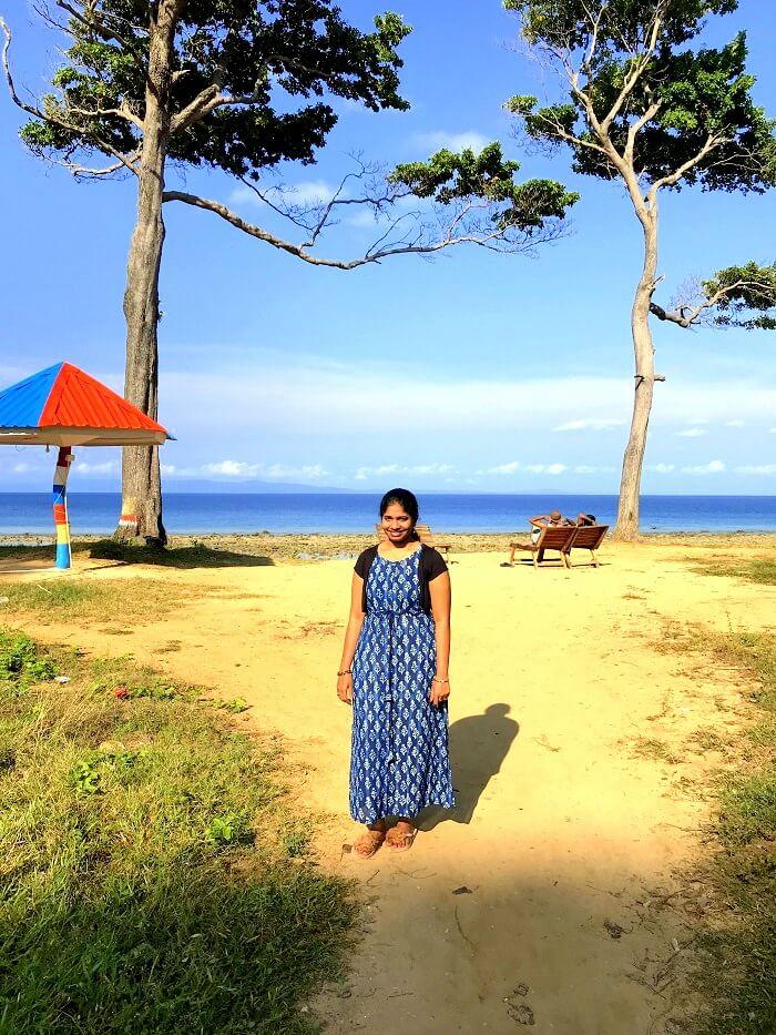 Lady at Andaman Bharatpur Beach