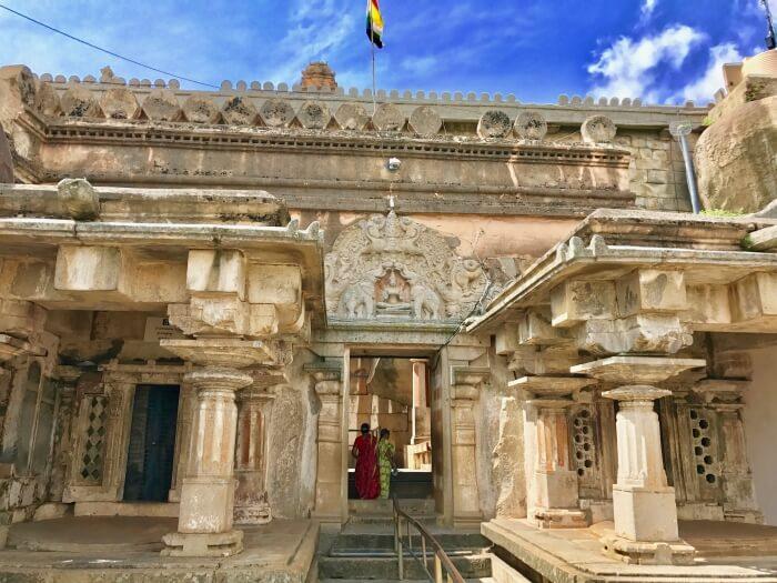 Bahubali shrine in shravanabelagola