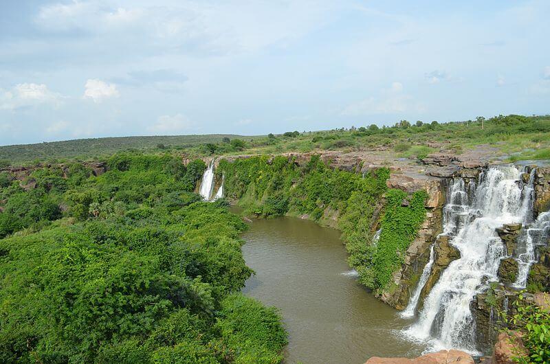 the gorgeous ethipothala waterfall