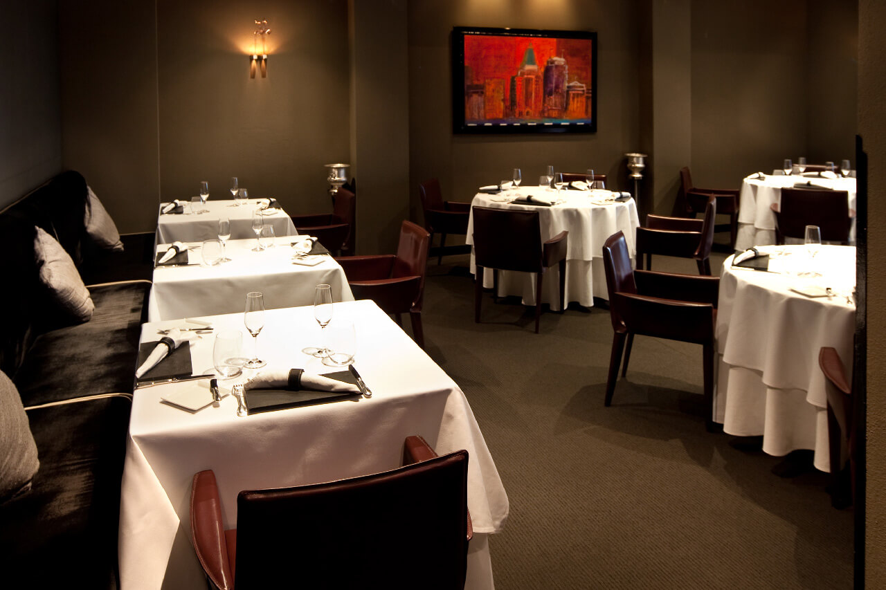 a fine dining room in a restaurant