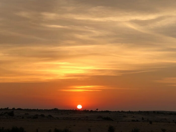 sunset in jaisalmer