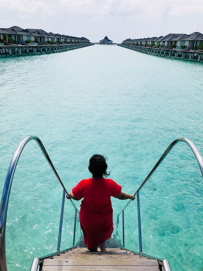 water villa entry maldives