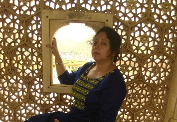 woman in jaipur fort
