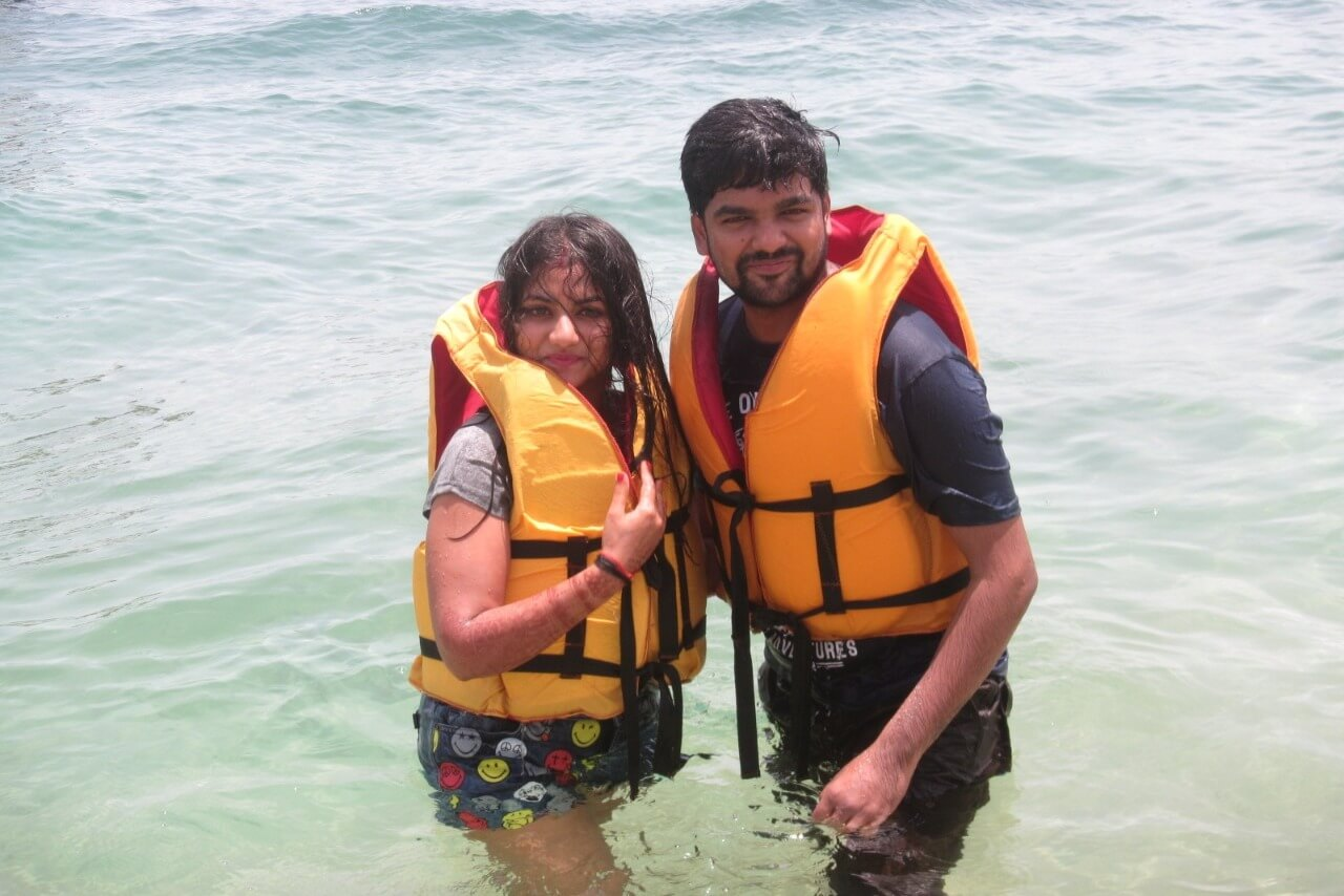 tushar honeymoon trip to Bali: watersports in bali