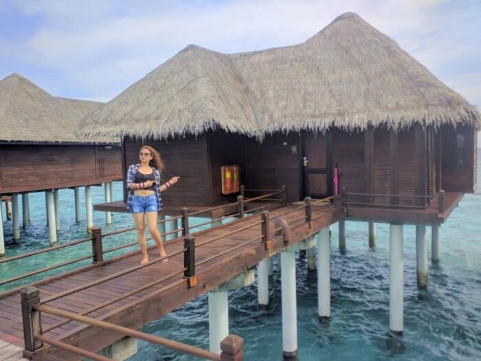 ankit wadhwa maldives honeymoon: overwater villa
