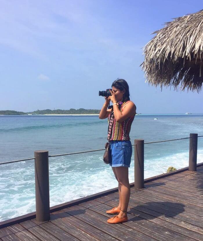 sushmita maldives honeymoon: clicking pictures