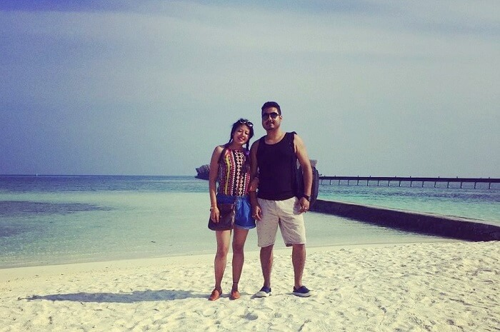 sushmita maldives honeymoon: with hubby