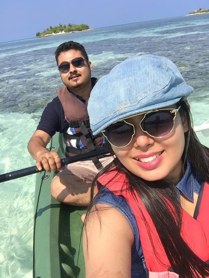 sushmita maldives honeymoon: day 1 kayaking