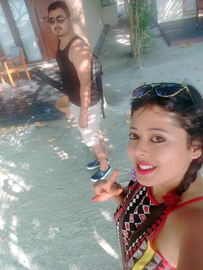 sushmita maldives honeymoon: selfie with hubby