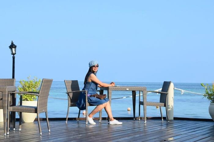 sushmita maldives honeymoon: day 1 lunch