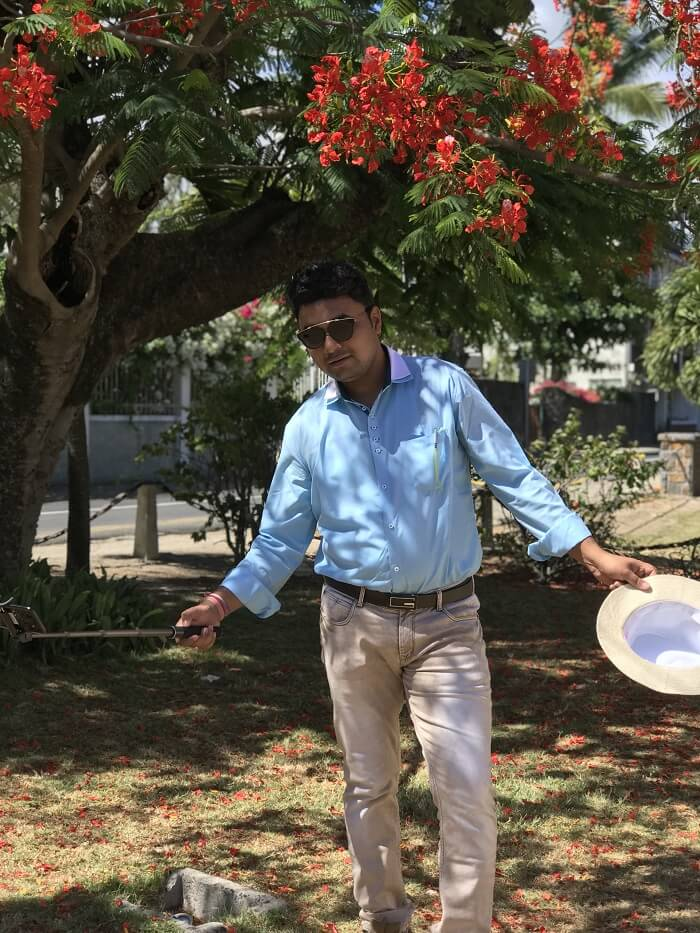 Himanshu honeymoon trip to Mauritius: leisure day